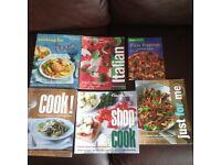 Six weight watchers recipe books