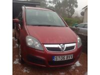 06 Plate Vauxhall Zafira For Sale - Reliable, comfortable family car