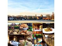Front of House COUPLE at The Crown Inn, Chiddingfold