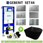 Geberit UP320 Toiletset set44 Civita Black Rimless Mat Zw...