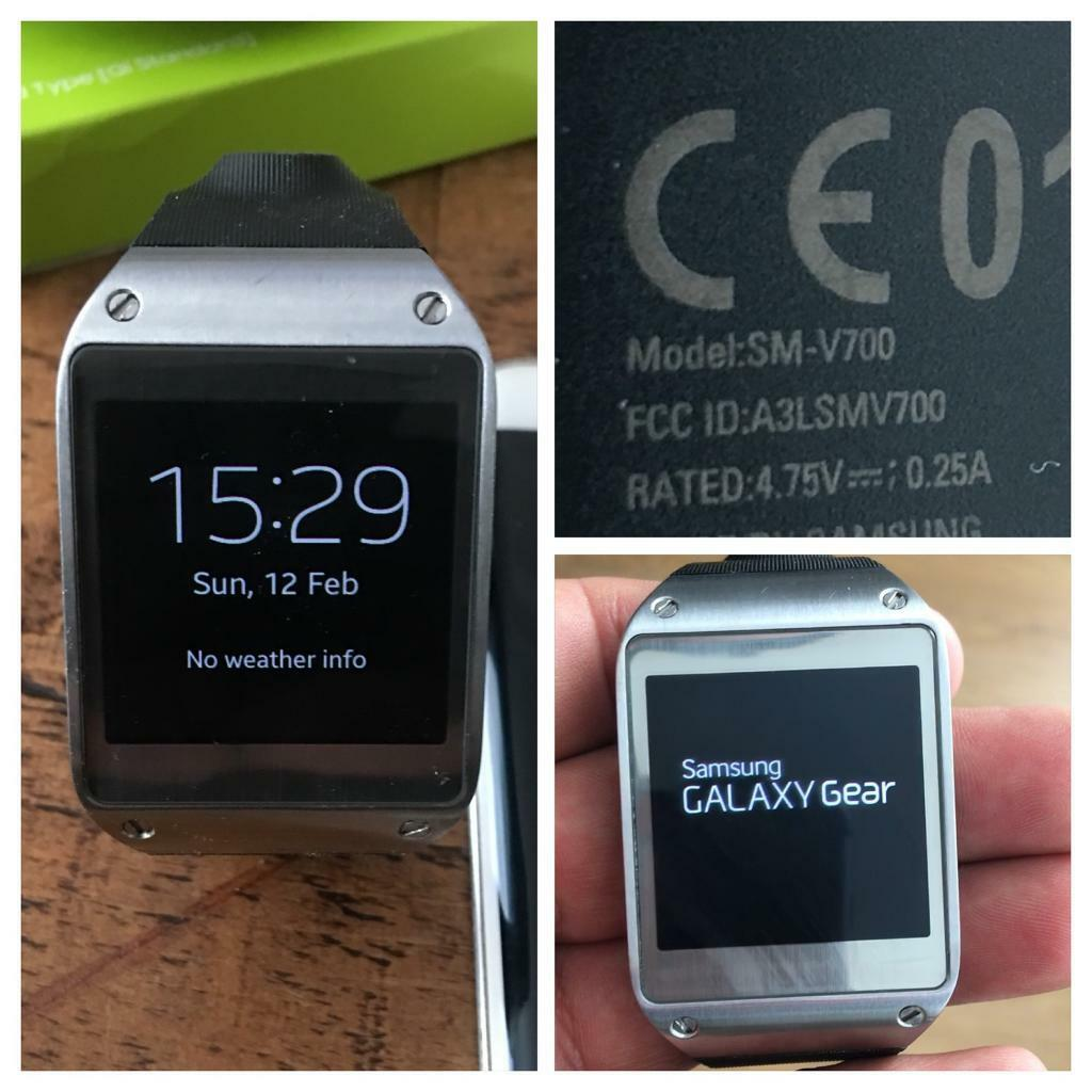 Samsung Galaxy Gear Smart Watch SM V700in Portsmouth, HampshireGumtree - Samsung Galaxy Gear Smart Watch SM V700Samsung Gear Smart Watch which syncs with phone to make calls/texts etcAlso selling Samsung Galaxy S6 Edge & Samsung Wireless Charger if your interested in the full package. All in great condition