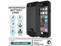 PunkJuice iPhone 6+/6s+ Battery Case - Waterproof Power Bank with 4300mAh - 120% Extra Battery Life