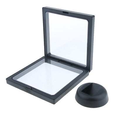 High-end Jewelry 3d Floating Display Frame Case Box Stand Holder 11x11cm