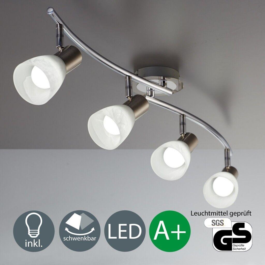 LED Deckenleuchte Deckenlampe Wohnzimmer Spot-Strahler schwenkbar E14 4-flammig