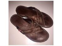 Mens size 10 Leather Shoes worn once vgc