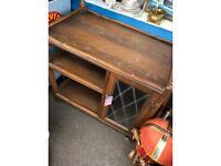 'Old Charm' oak tea trolley
