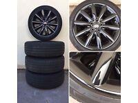Brand new black goss Mini Cooper Alloys & tyres