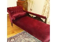 Really lovely re-upholstered chaise.