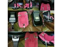 Isofix family fix and maxi cosi pebble car seat