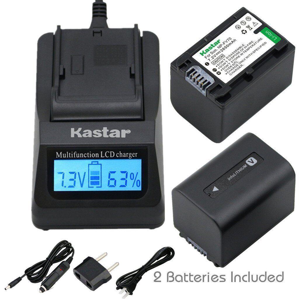 Kastar Np-fv70 Battery& Fast Charger For Sony Hdr-cx260v ...