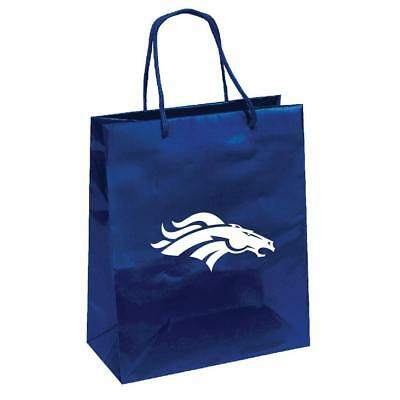 Denver Broncos Elegant Foil Gift Bag [NEW] NFL Wrapping Present Paper Birthday