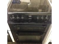Black Beko electric cooker 60cm