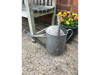 Galvanised watering can/planter
