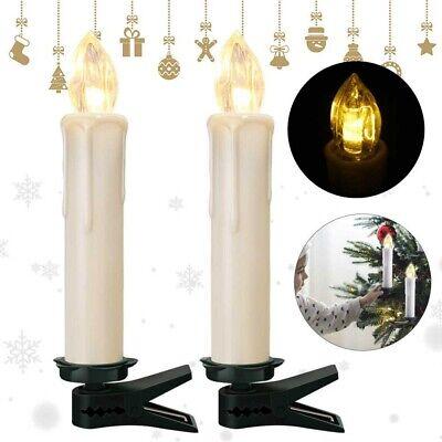 LED Candele 2 Packs senza Telecomando Luce Tremolante Vera Cera Set
