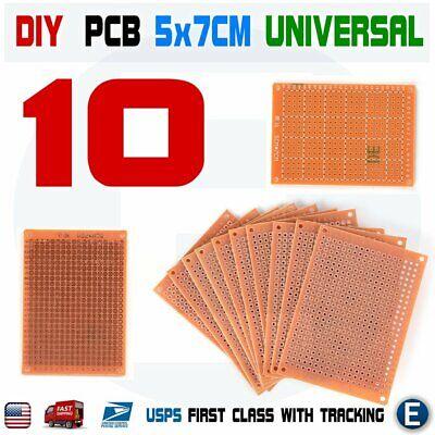 10pcs Prototype Paper Copper Pcb Universal Matrix Circuit Board 5x7cm 57cm Diy