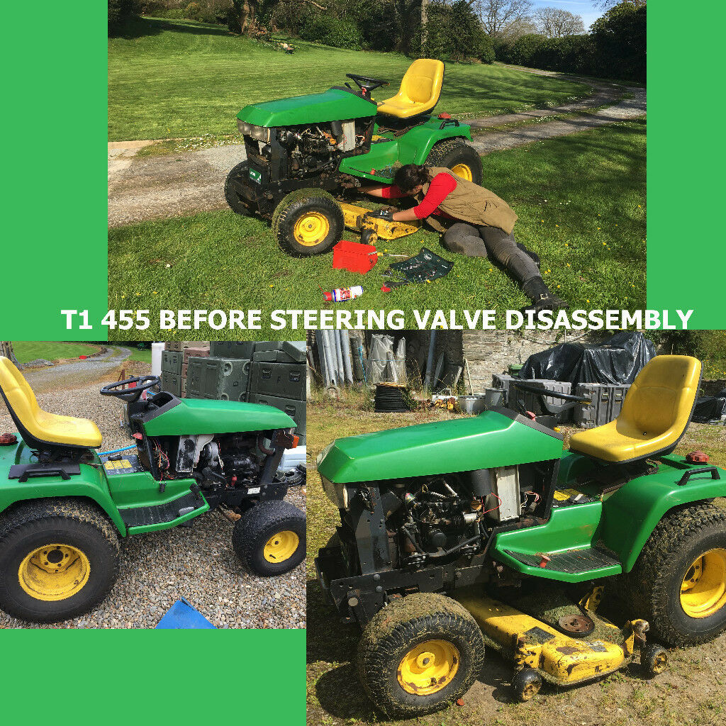 Two John Deere 455 Mowers Yanmar Diesel 48 With Decks Spares Or Vintage New Holland Lawn Tractor Wiring Diagram Repairs