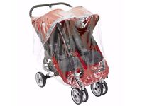 Double Raincover For Baby Jogger Mini And GT Double By Baby Travel --can post----