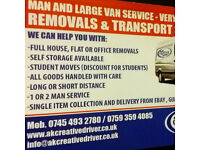 MAN AND LARGE VAN SERVICE - VERY GOOD RATES