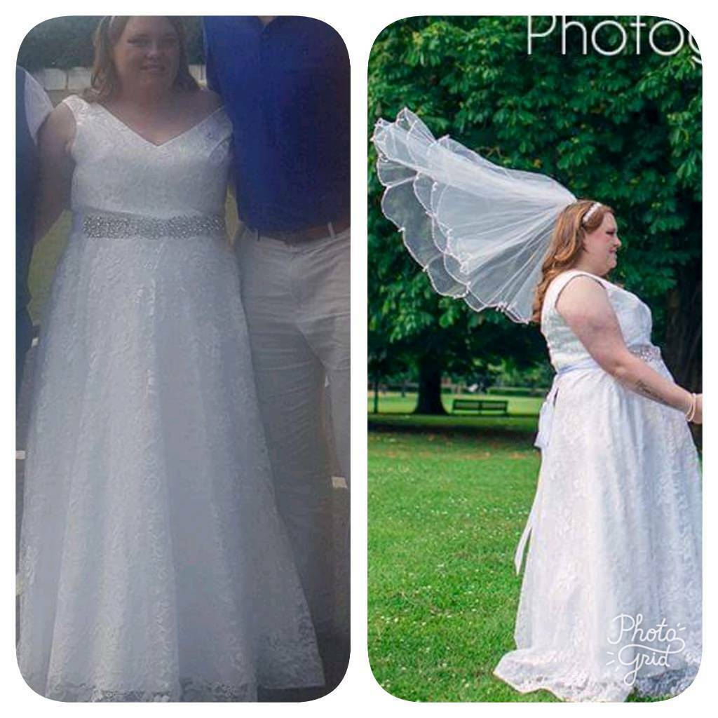 Wedding dress, viel, belttiarain Coventry, West MidlandsGumtree - Gorgeous wedding dress, had no alterations and is size 18 20 with a corset back. Belt comes separate which is stunning. Viel and tiara. Dress needs a little clean as bit dirty at bottom from walking hence why its going so cheap. It is collection ONLY...