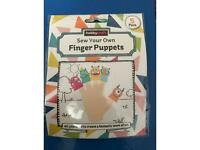 Sew your own monster finger puppets craft kit