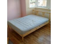 Double Bed with Matress for Sale excellent condition