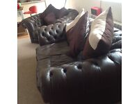 Chesterfield Large 3 seater .2 seater and 1 chair..