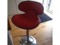Red leather kitchen stools