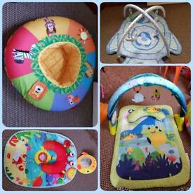 Baby items playmats baby support ring etc