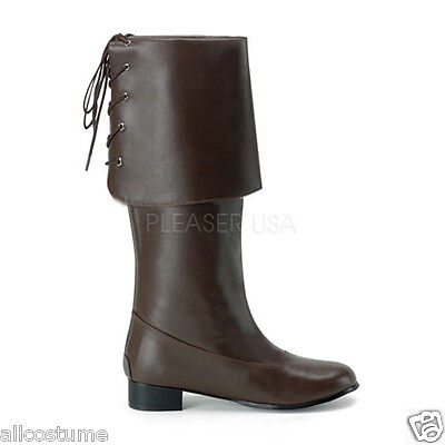 Buccaneer Boots Pirate Boots With Cuff Mens Costume Boots Pirate-100