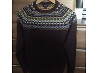 F & F Men's xmas/ski design jumper