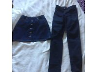 Miss Selfridge jeans and skirt