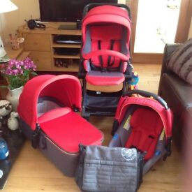 Jane Travel System with carrycot, car seat and buggy