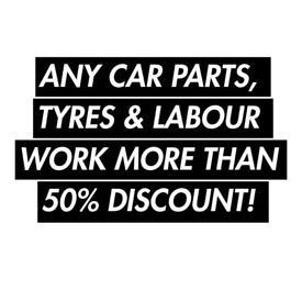 Discount NEW Car Parts, Tyres & Labour Work