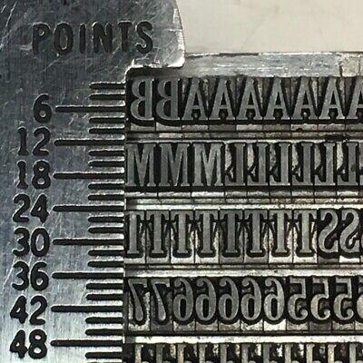 Cheltenham Bold Extra Condensed 10 Pt Atf 70 - Letterpress Type - Font Sorts