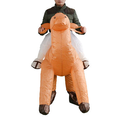 Fun Inflatable Costume Camel Mascot Stage Performer Adult Rider Fat Pant