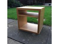 Pine Coloured Side/Bedside Table