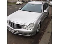 Merc E class estate 280 , silver Sat nav, Black leather , Heated seats, Towbar, imaculate