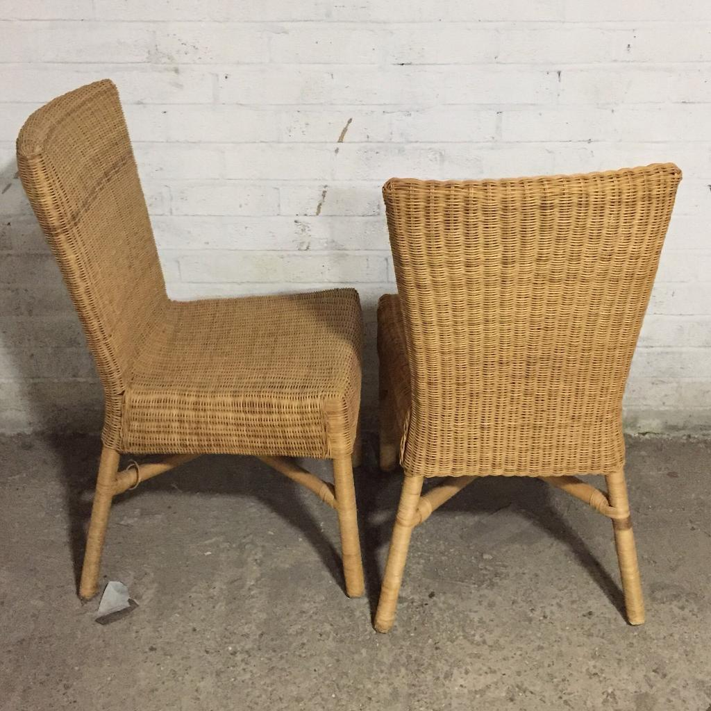 Pair Of Vintage Wicker Chairs In Waterbeach Cambridgeshire