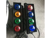 Stage spotlights and disco lights to suit Band or Dj