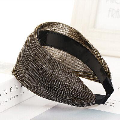 Wide Lace Headband Elastic Bandana Turban Hair Band Ladies Summer Sport