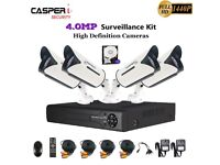 CCTV 4.0MP Camera In/Outdoor HD 4CH DVR 5 IN 1 Kit with CVI TVI AHD System 2TB