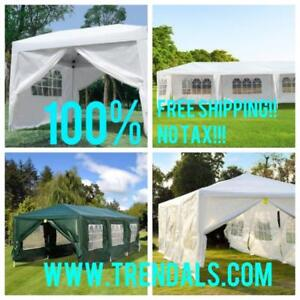 SALE || NO TAX || FREE SHIPPING @ WWW.TRENDALS.COM || Brand New 10x30, 10x10 Wedding Party Pavilion Tents
