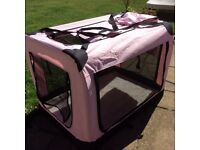 Pink ....puppy / dog crate