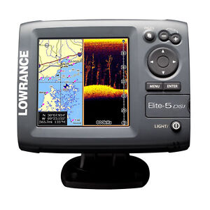 New Lowrance Elite 5 DSI Color Fishfinder/Chartplotter 455/800 kHz 10236-001