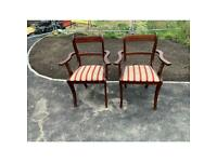 Free to collector pair of chairs