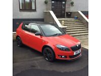 FABIA 1.2FSI RED/BLACK ROOF+ 16INCH; BLACK ALLOYS ON NEW TYRES +1 YEARS MOT + SERVICE HIISTOY.