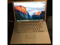 """Apple MacBook Pro 15.4"""" Intel 2.4ghz, 4GB ram, 200GB hard drive, Nvidia 8600GT graphics 256mb"""