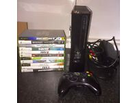 Xbox 360 console 250GB HD/ model 1439 11 games All working just needs batteries in controller.
