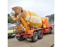 Left hand drive Scania 112H 320 HP 6X4 10 tyres 36 Ton CIFA 12 m3 concrete mixer.