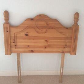 LOVELY PINE HEADBOARD (Single bed)